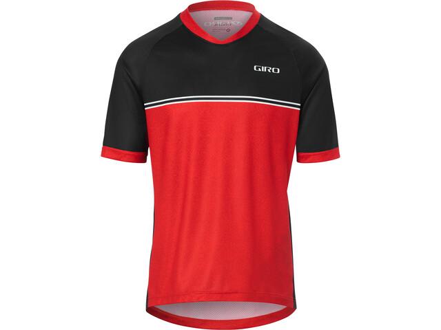 Giro Roust Koszulka rowerowa z zamkiem błyskawicznym Mężczyźni, czerwony/czarny